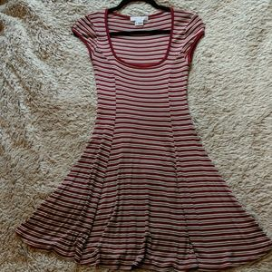 OU red stripped skater dress